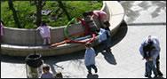 Niños-as jugando en el parque de Valdespina