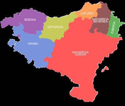 Euskal Herriko mapa