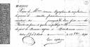 Bidaiatzeko ordainagiria - Reçu d'embarquement (fonds Apheça, collection musée de Basse Navarre)