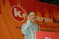 Muñoz : ez dago inolako arrazoirik greba orokorreko aldarrikapenak aldatzeko