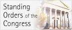 Portada del edificio del Congreso y título del Reglamento del Congreso