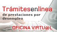 Trámites en línea de prestaciones por desempleo, Oficina Virtual