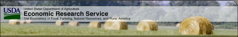 Masthead for USDA Economic Research Service - The economics of food, farming, natural resources, and rural America.