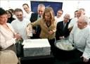 'Basque Culinary  Center'en lehen harria jarri zuten atzo Donostian, munduan erreferentzia izatea helburu