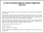 Luis Javier Oregui Bolumburu