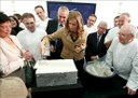 Primera piedra ayer en Donostia del 'Basque Culinary Center', que aspira a convertirse en referente mundial