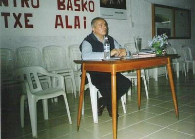 Conferencia a cargo de César Arrondo en Pehuajó, organizada por el Centro Basko 'Etxe Alai'.