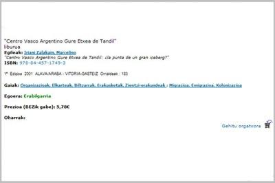 El fondo editorial, DVDs, mapas, discos y publicaciones del Gobierno Vasco, pueden adquirirse ya por la red