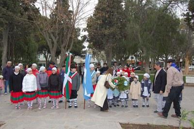 Fiesta de San Miguel en septiembre de 2008, organizada por la nueva Colectividad Vasca de Puerto Madryn, en proceso de formación y establecimiento como Euskal Etxea