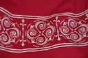 Diseño basado en el lauburu realizado por la diseñadora vasco californiana Isabel Irigoyen