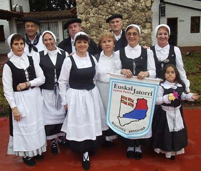 Euskal Jatorri representatives at the parade of the Day of the Immigrant in Obera, Argentina