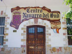 Former main entrance for the Navarrese Center of the South, in Mar del Plata, Argentina (photo EuskalKultura.com)