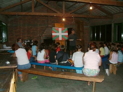 Udaleku or Basque summer camp for kids, organized every February in Uruguay by FIVU