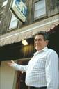 Founder, Iñaki Cenicacelaya, in front of his Jai Alai Restaurant in Dover, NJ