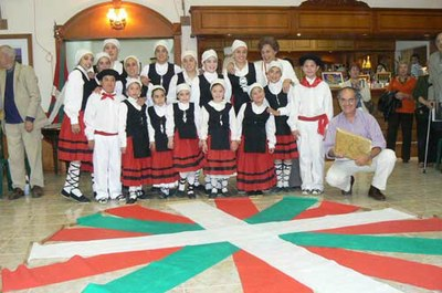Young Basque dancers of the Beti Aurrera Basque Club of Chivilcoy