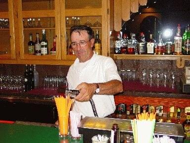 """Ramon Zugazaga from Gernika at the bar of his """"Biltoki"""" restaurant in Elko"""