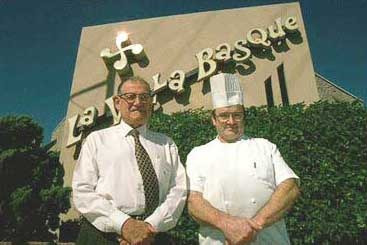 The owner and chef of La Villa Basque in Vernon, California