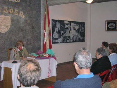 A conference at the Toki Eder Basque Club of Jose C. Paz
