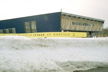 """""""Park de l'aventure basque en Amérique"""" of Trois Pistoles, Quebec, surrounded by winter snow"""
