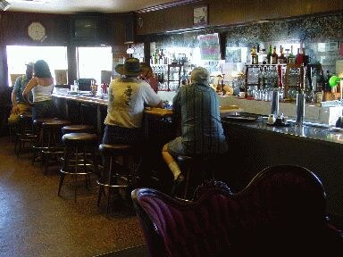 The bar of Winnemucca's 'Martin Hotel' Basque restaurant
