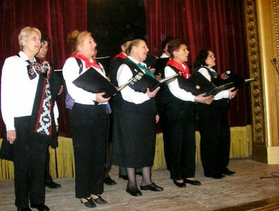 The choir performing in the city of Navarro, province of Buenos Aires