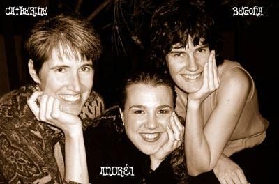 Noka group members Cathy, Andrea and Begoña