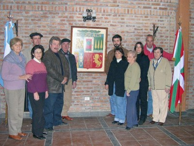 Members of the Canuelas Basque Club at the clubhouse