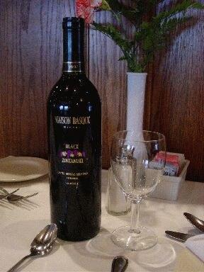 """Maison Basque"" zinfandel red wine made by Clarke-Curutchague (photo EuskalKultura.com)"