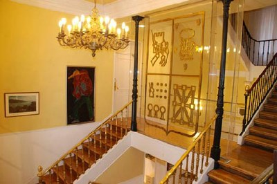 Hall de acceso a Euskal Etxea de Madrid