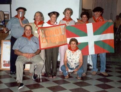 Miembros del grupo que promueve la creación de un Centro Vasco en Las Heras