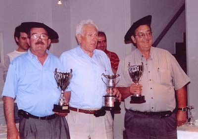 Campeones de Mus de Euskal Etxea de Valencia, Urrutia, Dorronsoro y Najarro
