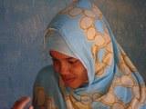 Mujer saharaui, Sahara Occidental, Argelia, 2007.