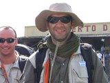 Germán Hirigoyen en el Puerto de Productores de Iquitos, Perú.