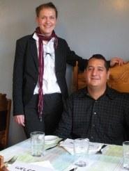 Anna Adamaszek y Edward Martínez, propietarios del Pitxi. Estudiaron cocina y residieron en el País Vasco, de donde tomaron el nombre del restaurante, ya que al parecer así le llamaban allá a ella (foto JimHart/SandyPost)