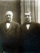 L'arrière grand père Juan Pedro de Ugarte, à gauche, et à droite, le grand père d'Osvaldo Amalio, qui s'appelait Amalio. Source image: Osvaldo Amalio de Ugarte.