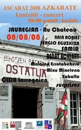 Des chanteurs d'iparralde et de la diaspora en concert au château d'Ascarat