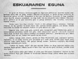Las primeras ediciones del Día del Euskara en los documentos y noticias de la época