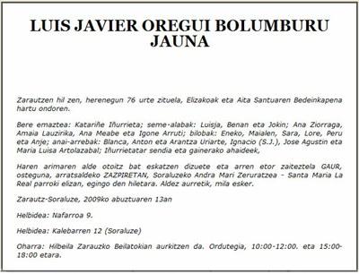 Luis Javier Oregui Bolumburu