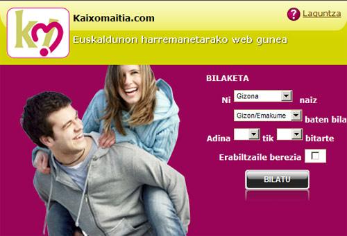 Los euskaldunes ya pueden empezar a buscar su media naranja en la primera página de contactos en euskara