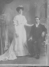 Jesús Elorza y Goya con su esposa