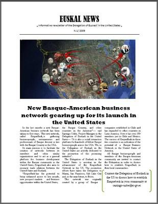 Sale el primer número de 'Euskal News', boletín de la Delegación de Euskadi en Estados Unidos