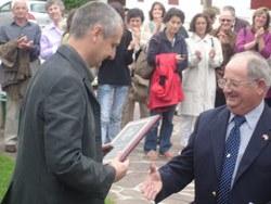 Notable presencia de vascoamericanos ayer en Bidarrai en el homenaje a F. Fuldain, en el preludio del Congreso