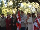 El Centro Vasco Euzko Etxea de La Plata participó en la reinauguración del Jardín de la Paz de la ciudad argentina