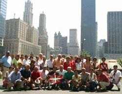 Una delegación de la Fundación Sabino Arana homenajeó en la Zona Cero de Nueva York a las víctimas del 11-S