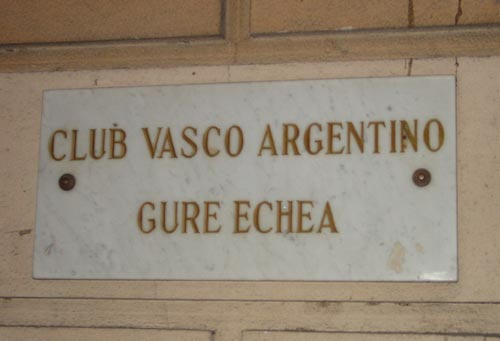Gure Echea Basque Argentinian Club Buenos Aires Argentina