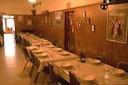 Uno de los comedores del viejo hotel vasco Santa Fe de Fresno
