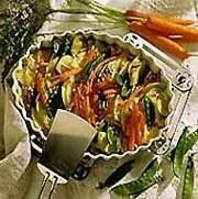 'Calabacín al pil-pil', una de las originales propuestas del libro 'Cocina Vasca Vegetariana', de Mónica Casla