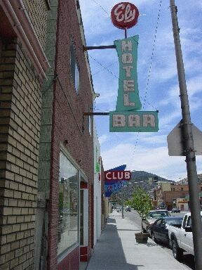 """""""The Ely Hotel"""" and """"Club Rio,"""" former Basque places in Ely, Nevada"""
