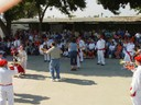Couples dancing to the music of Chino's Klika at the Southern California Basque Club's picnic