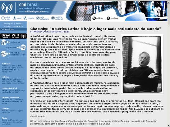 Noam Chomsky Brasilgo Indymedian
